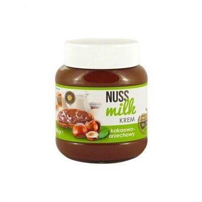 Шоколадная паста Nuss milk krem шоколадно-ореховая 400г
