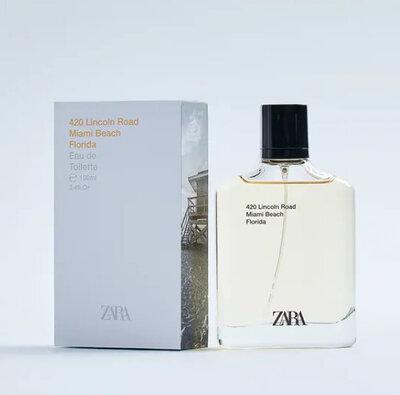 Мужская туалетная вода 420 LINCOLN ROAD от Zara, 100ml, оригинал