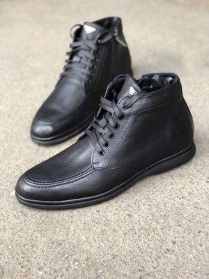 Продано: Кожаные мужские демисезонные ботинки