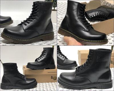 Мужские зимние ботинки Dr.Martens Black кожа, мех