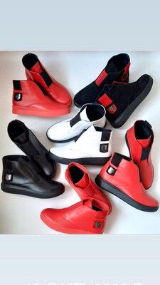 р.36-41 Натуральные кожаные замша деми ботинки демисезонные ботиночки
