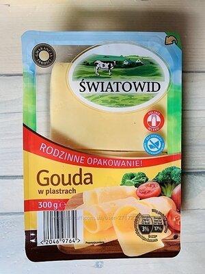 Сыр Swiatowid Podlaski и Gouda нарезка 300 г. Польша