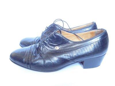 Туфли из натуральной кожи на широкую ногу р.43