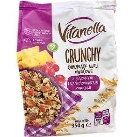 Vitanella Crunchy Owocowe мюсли с кусочками сухофруктов, 350 гр.