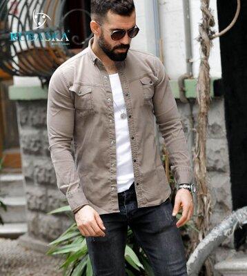 Джинсовые мужские рубашки Турция