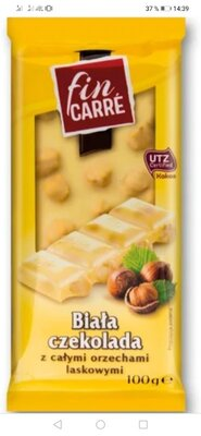 Шоколад Fin Carre белый с цельным фундуком 100 г