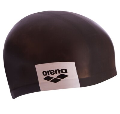 Шапочка для плавания Arena Logo Moulded 001912 силикон, черный