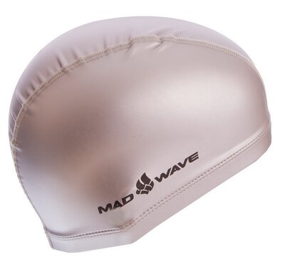 Шапочка для плавания MadWave Put Coated 058501 PU, серебро
