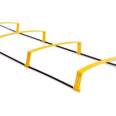 Координационная лестница дорожка с барьерами 4892 6 перекладин длина 215см