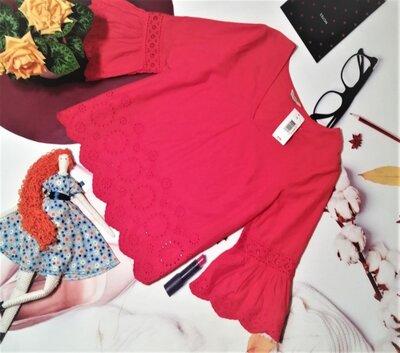 Красивая блуза Papaya, 100% хлопок-прошва, размер 12/40, новая с этикеткой
