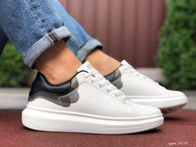 Стильные мужские кроссовки Stilli белые, р. 41-45, 005-9873