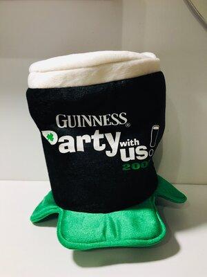 Шляпа, цилиндр Guinness St.Pats Головной убор для ирландской вечеринки День Святого Патрика