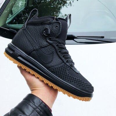 Высокие мужские кроссовки Nike Lunar Force черные, р. 41-46, 005-9919