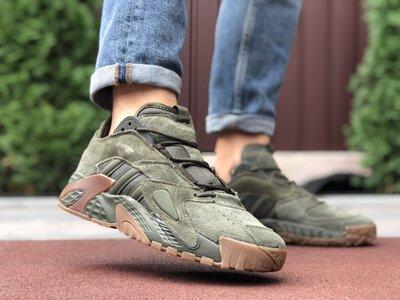 Новые мужские кроссовки Адидас Adidas, зеленые, р. 41-46, 005-9865