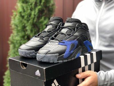 Модные мужские кроссовки Адидас Adidas, черные, р. 41-46, 005-9862