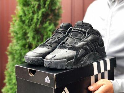 Стильные мужские кроссовки Адидас Adidas, черные, р. 41-46, 005-9863