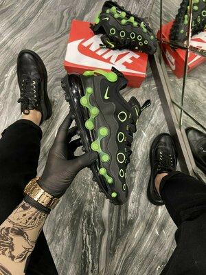 Кроссовки Найк Эйр Макс Испа чёрные с зелёным Nike Air Max ISPA Black Neon Green.