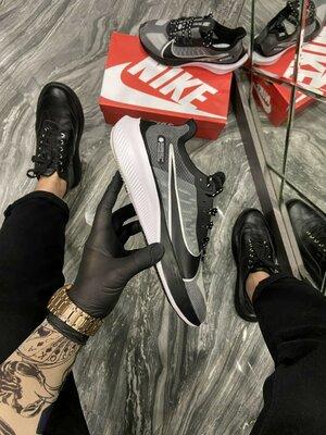 Кроссовки Найк Зум Х черно-белые Nike Zoom X Black White.