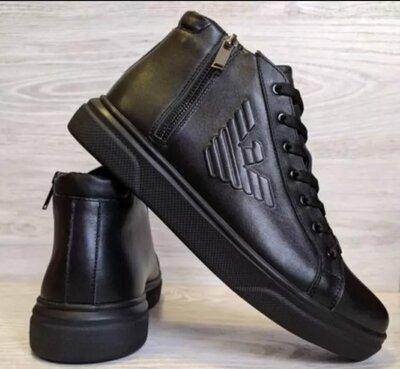Мужские качественные кожаные люксовые ботинки