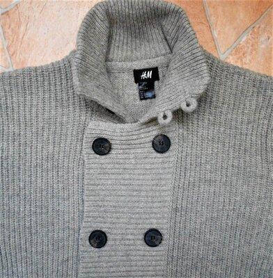 свитер-кардиган H&M размер L 52 шерсть