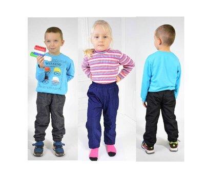 Теплые штаны на флисе 3 цвета 98-116 демисезон Украина фабрика брюки девочка, мальчик.