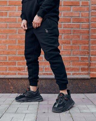 Теплые Cпортивные штаны Пушка Огонь черные Jog 2.0