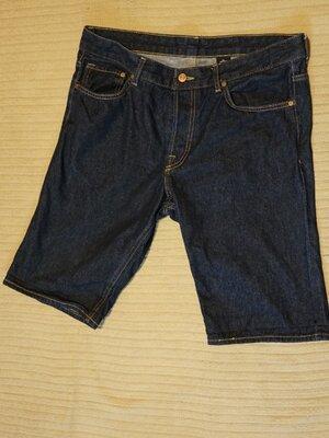 Отличные темно-синие джинсовые шорты H&M Denim Швеция 34 р.