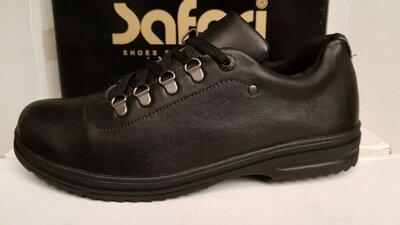 45р.Зимние мужские туфли на меху,черные.Зимові чоловічі туфлі