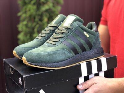 Зимние мужские кроссовки Adidas Iniki , темно-зеленые