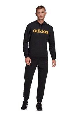 Черный спортивный костюм с логотипом adidas Linear