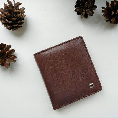 Мужской кожаный кошелек коричневый,черный