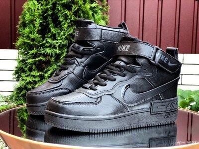 Зимние кроссовки Nike Air Force 1 Shadow, черные 36-41р