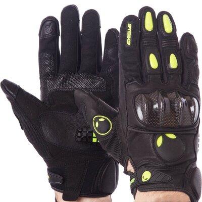 Мотоперчатки кожаные с закрытыми пальцами и протектором Scout 1242 размер L-XL