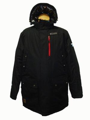 Мужская зимняя черная куртка парка Columbia