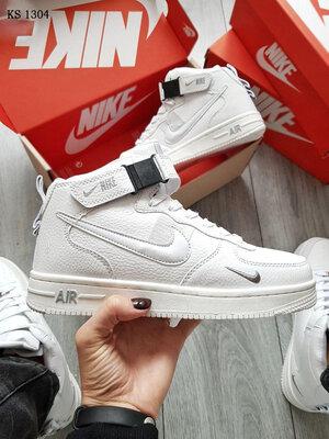 Nike Air Force 1 07 Mid LV8 белые чисто Зима