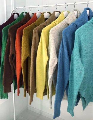 Светри Dilvin Свитера женские объемные 11 расцветок Женский свитер с высоким воротом оверсайз