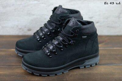 Лучшее качество. Зима. Украина. Мужские зимние ботинки Ecco черный Ec 43 ч.б.