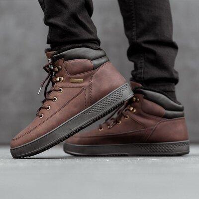 Ботинки зимние мужские Horoso brown на меху