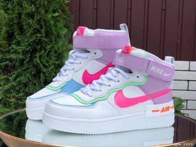 Высокие зимние женские кроссовки Nike Air Force 1 Shadow,цвета разные