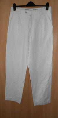 штаны брюки 52 размер из плотного льна и хлопка , в поясе-43. бедра-64. ширина штанины вверху-37, вн