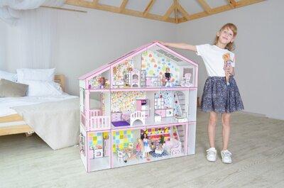 Супердом с секретом для кукол Барби. Большой кукольный дом для Лол Омг