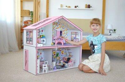 Большой домик для кукол Барби. Дитячий будиночок для Барбі
