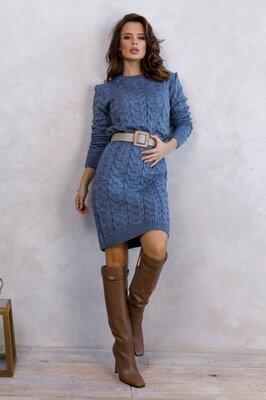 Вязаные шерстяные платья выбор моделей