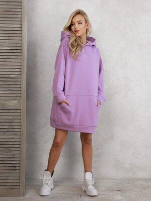 Платье-Толстовка на флисе, спортивне тепле плаття