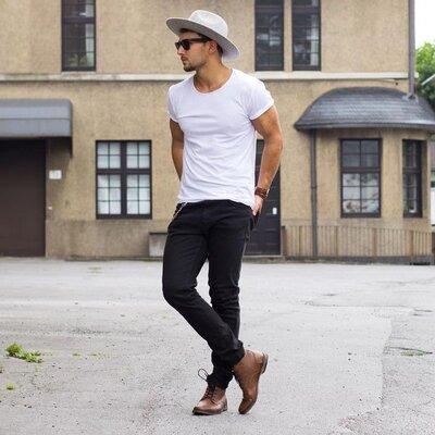STROMBERG Шикарные чёрные джинсы - M - L