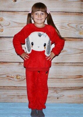 Акция Теплая пижама на девочку, детская махровая пижама, супер качество