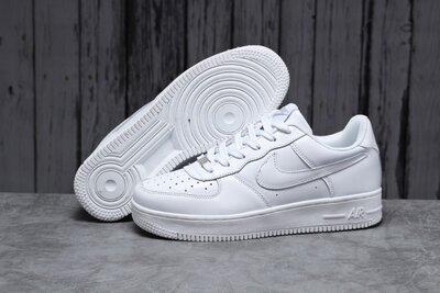 Кроссовки мужские Nike Air Force, белые, кожа 41-46р
