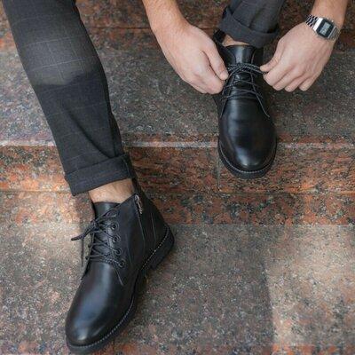 Зимове шкіряне взуття