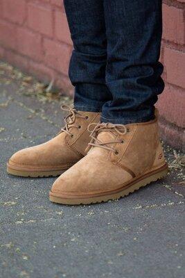 Угг ботинки мужские коричневые ugg neumel boot chestnut