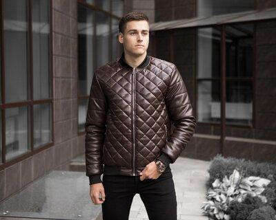 Мужские бомберы куртки стеганые Tigr Brown